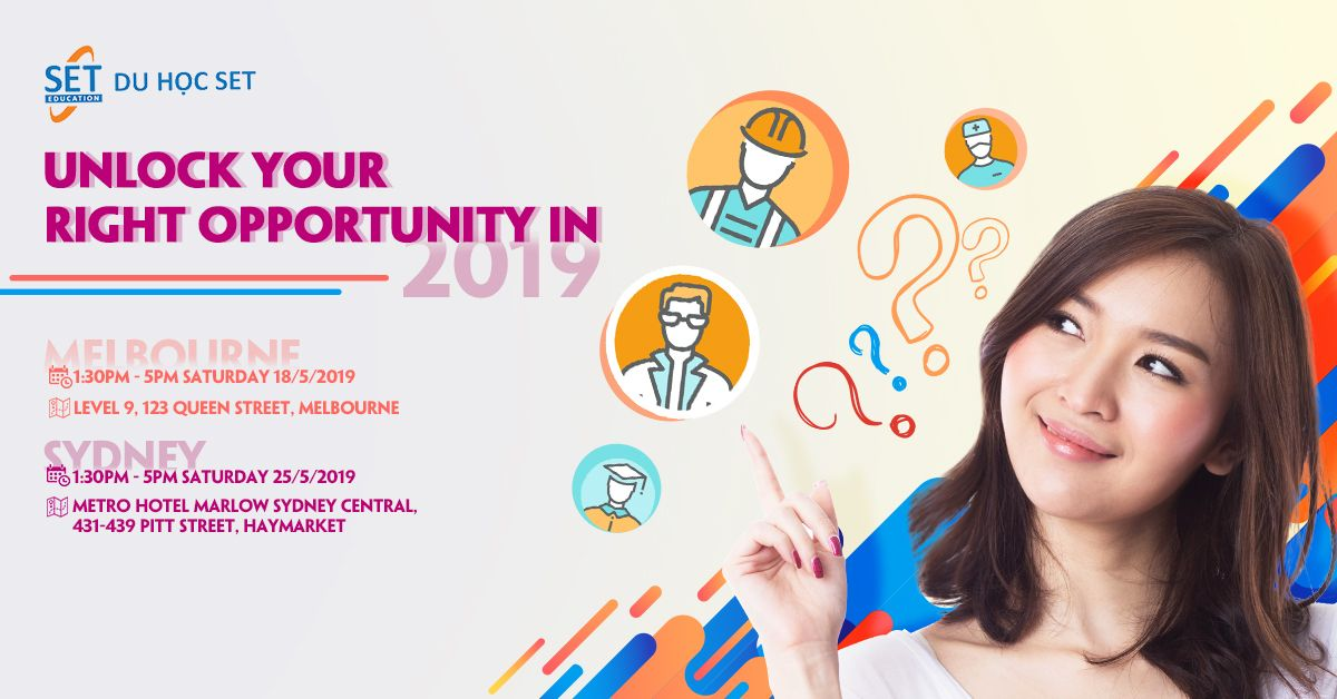 Event: Unlock your right opportunity in 2019 in Melbourne and Sydney