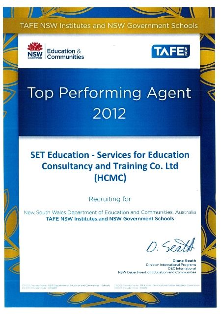 tafe top performance 2012 VN
